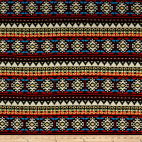 Hacci Sweater Knit Aztec Inspired Multi