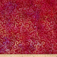 Anthology Batik Vine Pink/Yellow