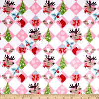 Michael Miller Minky Holiday Row Tinsel Tiles Multi
