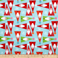 Michael Miller Minky Holiday Row Oh Ho No Aqua