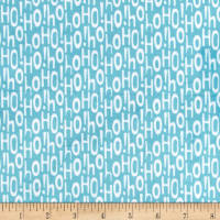 Michael Miller Minky Holiday Row Holiday Ho Aqua