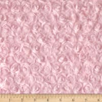 Michael Miller Minky Solid Rose Bud Light Pink