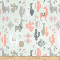 Premier Prints Llama Love Sundown