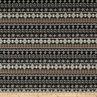 French Designer Cotton Jersey Knit Aztec Black/Grey
