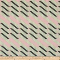 Italian Designer Scuba Knit Abstract Stripe Pink/Lime/Black