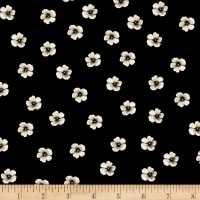 Timeless Treasures Shadow Chic Small Spaced Flower Black