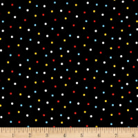 QT Fabrics Peanuts Good Friends Dots Black