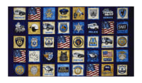 "Protect & Serve Patches 24"" Panel Navy"
