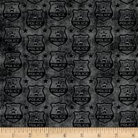 QT Fabrics Protect & Serve Shields Tonal Charcoal