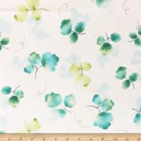 QT Fabrics Delaney Tossed Leaves Cream