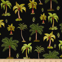 Caravan Palm Trees Black