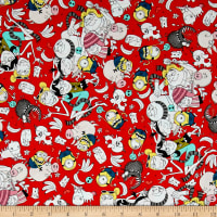 QT Fabrics Despicable Me 3 Best Family Ever Packed Graphic Characters Red