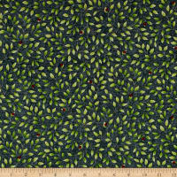 QT Fabrics Hangin' Out Ladybug On Leaf Vine Licorice