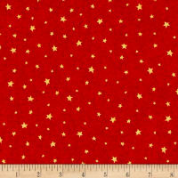 QT Fabrics Hangin' Out Stars Cherry