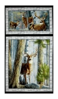"QT Fabrics In The Woods 24"" Panel Gray"
