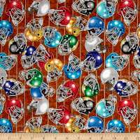 QT Fabrics Gridiron Football Helmets Brown