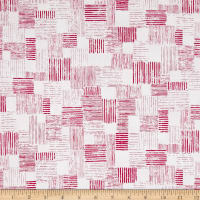 QT Fabrics En Vogue Textured Patch White/Pink
