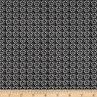 QT Fabrics En Vogue Linear Flower Black/White
