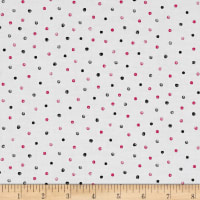 QT Fabrics En Vogue Dots White