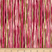QT Fabrics Sophia Watercolor Stripe Pink