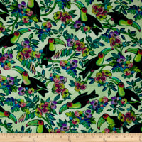 Ink & Arrow Toucan Do It! Toucans & Floral Light Green