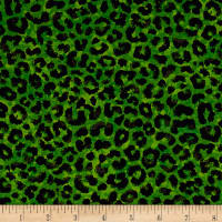 Ink & Arrow Toucan Do It! Leopard Print Dark Green