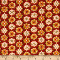 Ink & Arrow Willow Set Flowers Burnt Orange