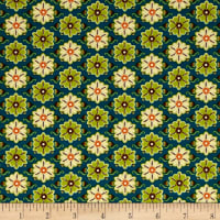 Ink & Arrow Willow Set Flowers Teal