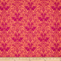 Ink & Arrow Zola Damask Coral/Pink