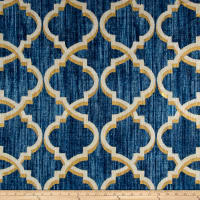 Waverly Lustrous Lattice Linen Blend Indigo