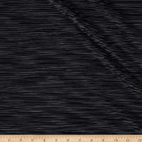 Pleated Bodre Knit Solid Black