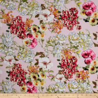 Bubble Crepe Floral Light Pink/Tea Berry