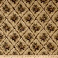 Lattice Pine Cone Jacquard Beige