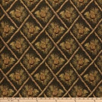 Lattice Pine Cone Jacquard Green