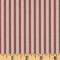 Magnolia Home Fashions Berlin Ticking Stripe Red