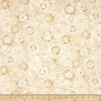 Earthtones 2 Circle Dot Metallic Cream
