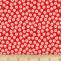 Vintage 30'S Florals Dots Red