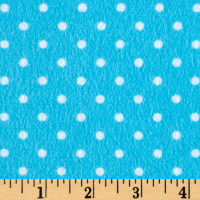Timeless Treasures Flannel Dot Aqua