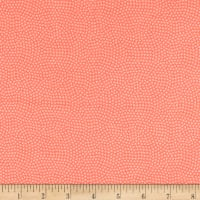Timeless Treasures Flannel Spin Dot Salmon