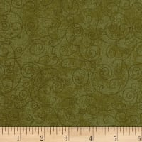 "Westrade 110"" Wide Quilt Back Betula Flannel Leaf Green"