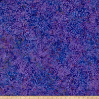 Benartex Bali Batiks Mountain Pass Purple