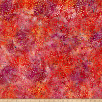 Benartex Bali Batiks Sunset Valley Fuschia Multi
