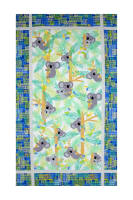"Kanvas Koala Baby Koala Baby 24"" Panel Royal/Jade"