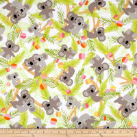 Kanvas Koala Baby Flannel Koalas In Trees White/Lime