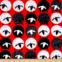 Kanvas All's Wool That Ends Wool Sheep Thrills Red/Black