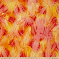 Timeless Treasures Tonga Batik Sunburst Tie-Dye Flame