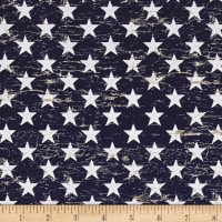 Timeless Treasures American Pride Patriotic Stars Navy