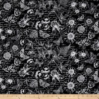 Timeless Treasures Garden Journal Butterfly Toile Negative Black