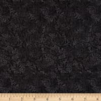 Timeless Treasures Garden Journal Tonal Filigree Black