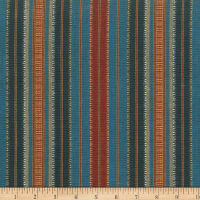 Laura & Kiran Southwest Stripes Turkish Blue/Red